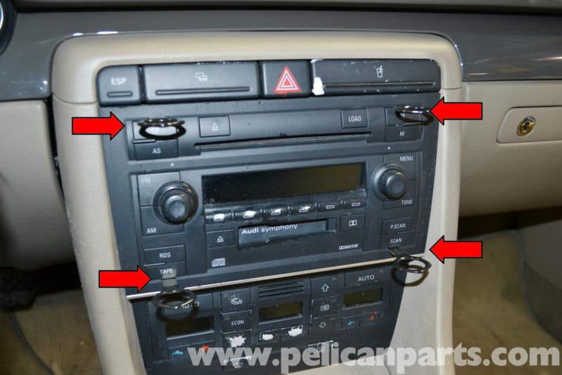 Audi A4 B6 Climate Control Removal 20022008 Pelican Parts Diy Rhpelicanparts: 2007 Audi A4 Radio Symphony Manual At Elf-jo.com