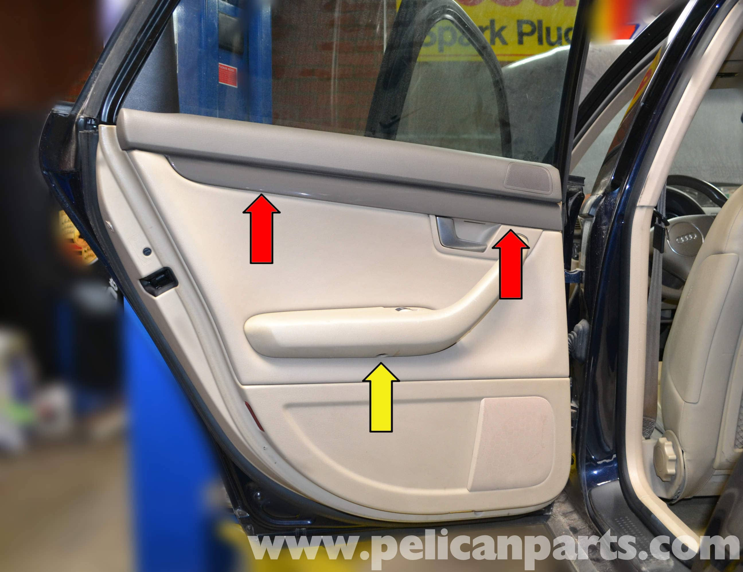 Large Image | Extra-Large Image & Audi A4 B6 Rear Door Panel Removal (2002-2008) | Pelican Parts DIY ...