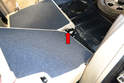 Rear Seat Backs: You can now slip the seat out from the center bracket.