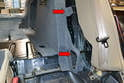 Separate the trim from the rest of the chassis remembering to remove the push pull clip on the top section.