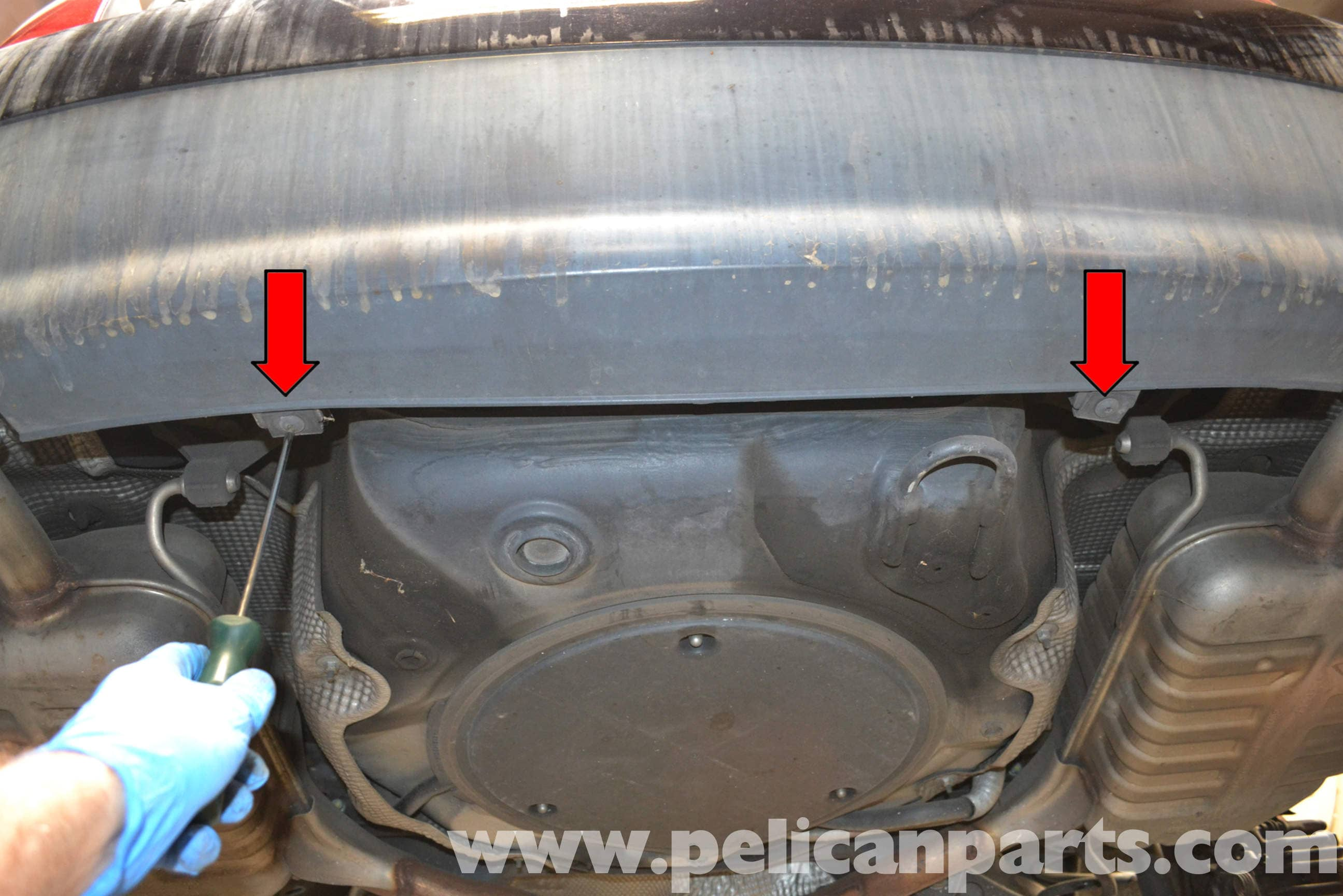 Audi a4 b6 front bumper removal