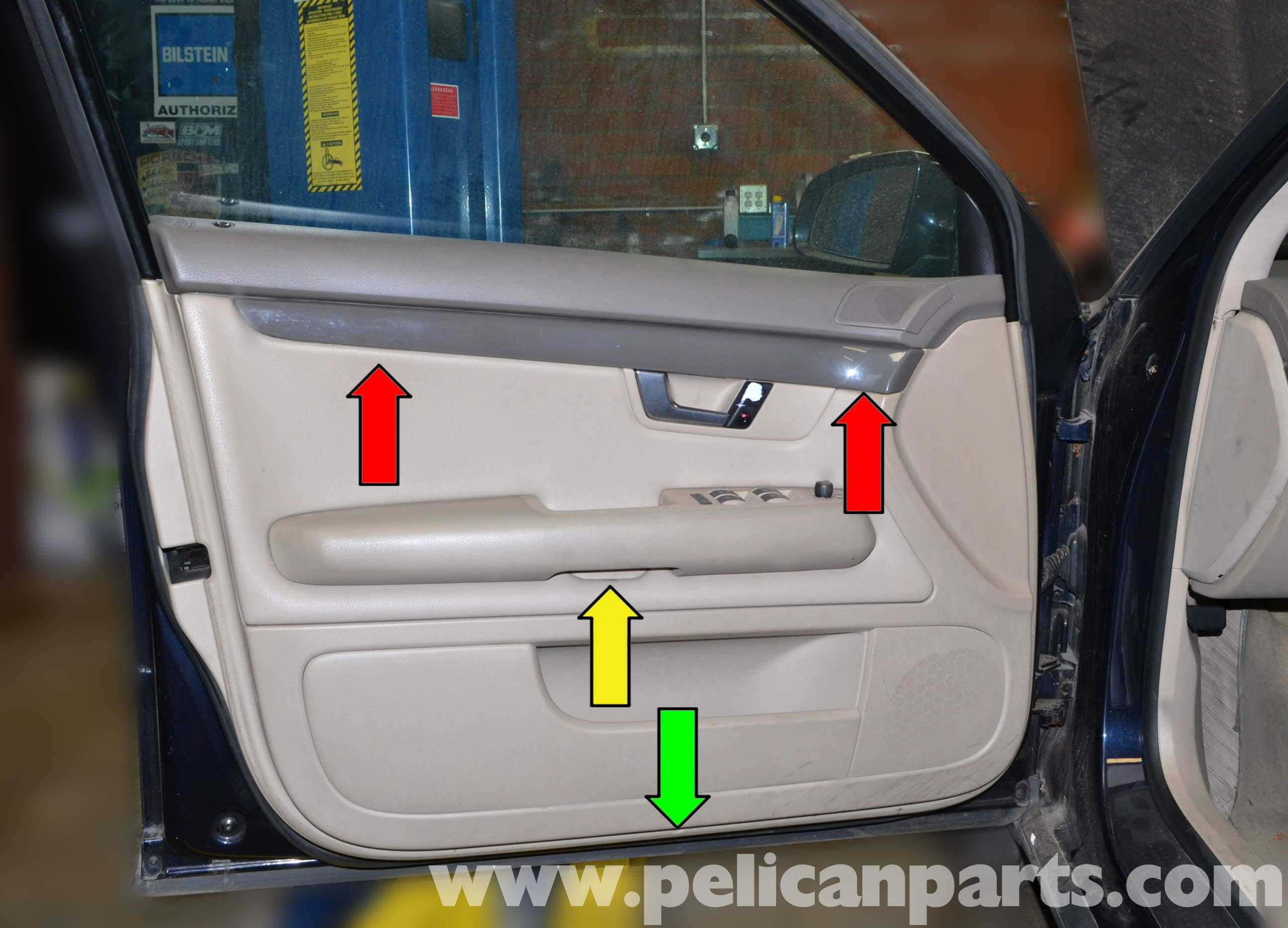 Audi a4 b6 front door panel removal 2002 2008 pelican parts diy large image extra large image asfbconference2016 Choice Image