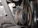 Once the idler pulley is loose, you should have plenty of slack with which to remove the belt.