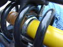 Clearance to the Bilstein shock is tight at some points too.