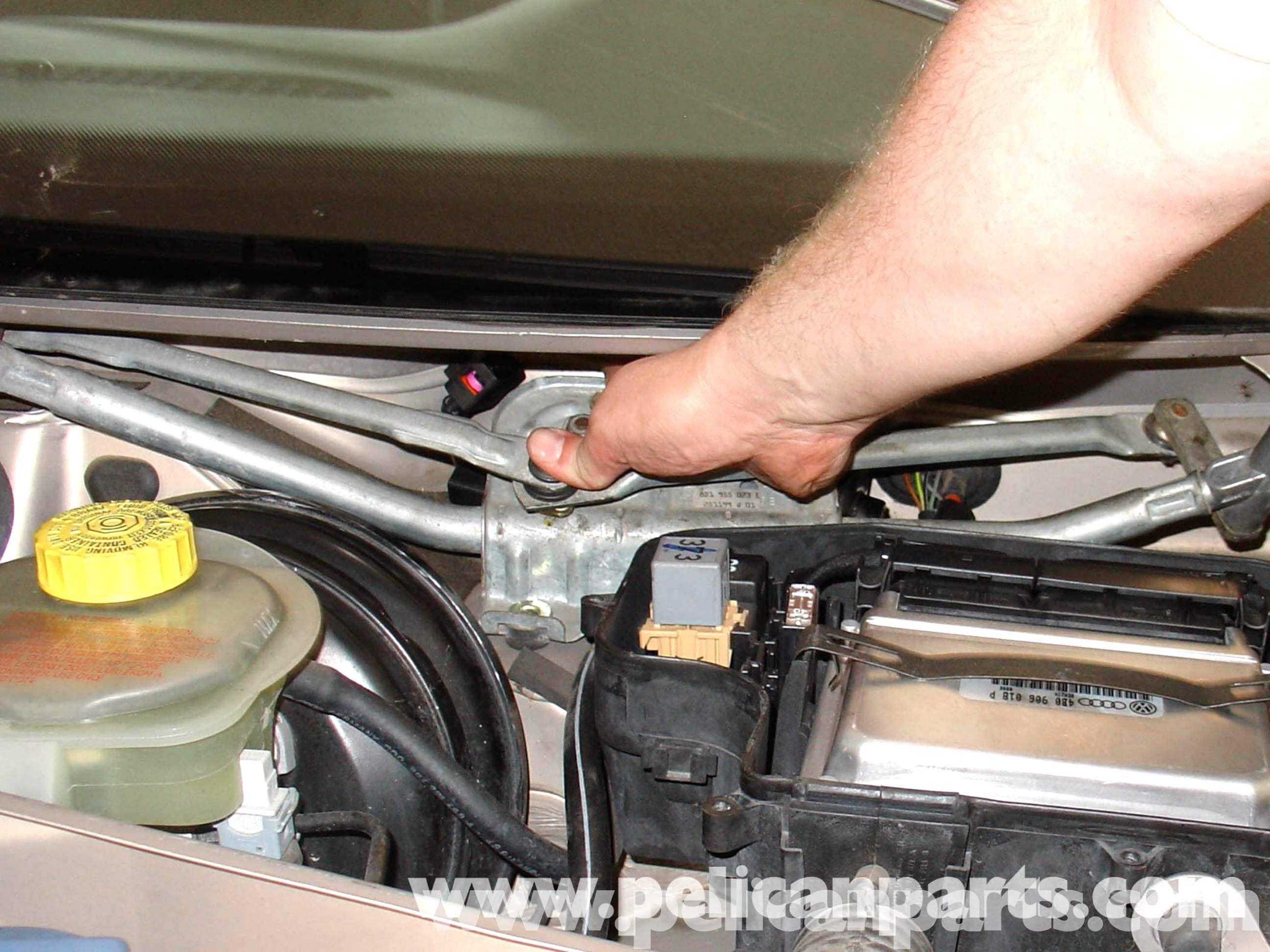 audi a4 1 8t volkswagen wiper motor replacement golf jetta rh pelicanparts com 2003 Audi A4 Turbo 2003 Audi A4 Turbo