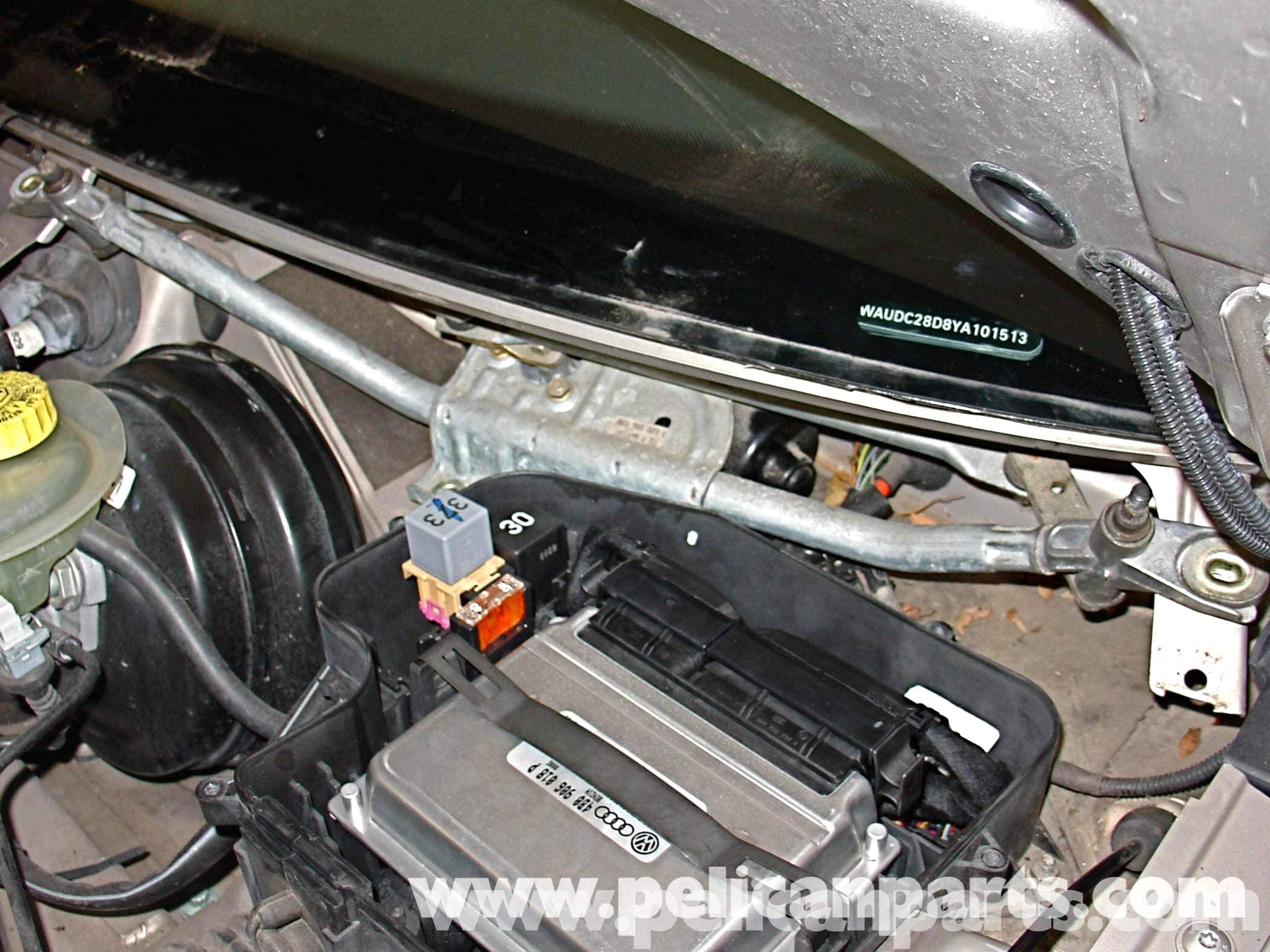 audi a4 1 8t volkswagen wiper motor replacement golf jetta rh pelicanparts com Audi A4 Quattro Audi A4 Quattro