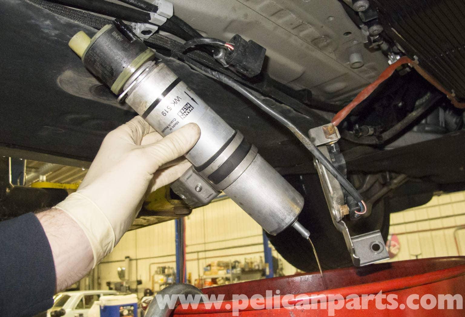 bmw e90 diesel engine fuel filter replacement | e91, e92, e93 | pelican  parts diy maintenance article  pelican parts