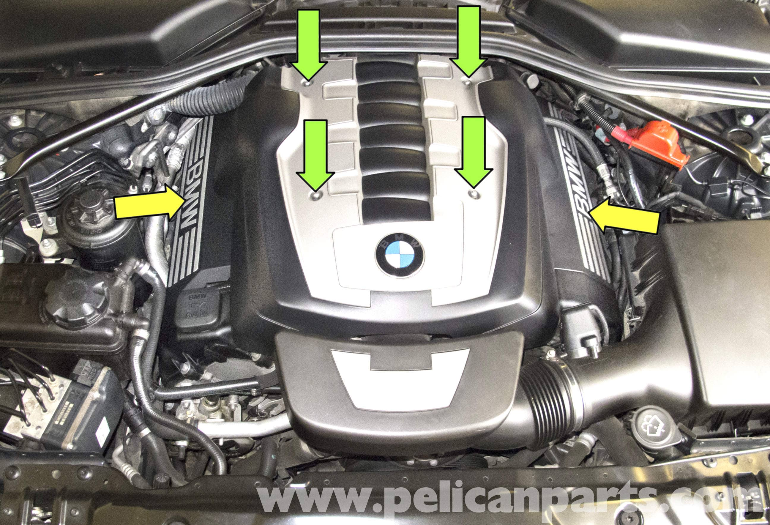 BMW E60 5-Series Engine Covers Removal (2003 - 2010