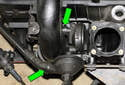 M54 6-cylinder engine:Next you will be working at the crankcase breather valve.