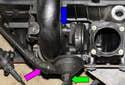 M54 6-cylinder engine:Install crankcase breather valve and tighten fasteners.