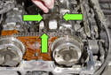 6-cylinder engine: Once all fasteners are loose, remove sensor from engine.