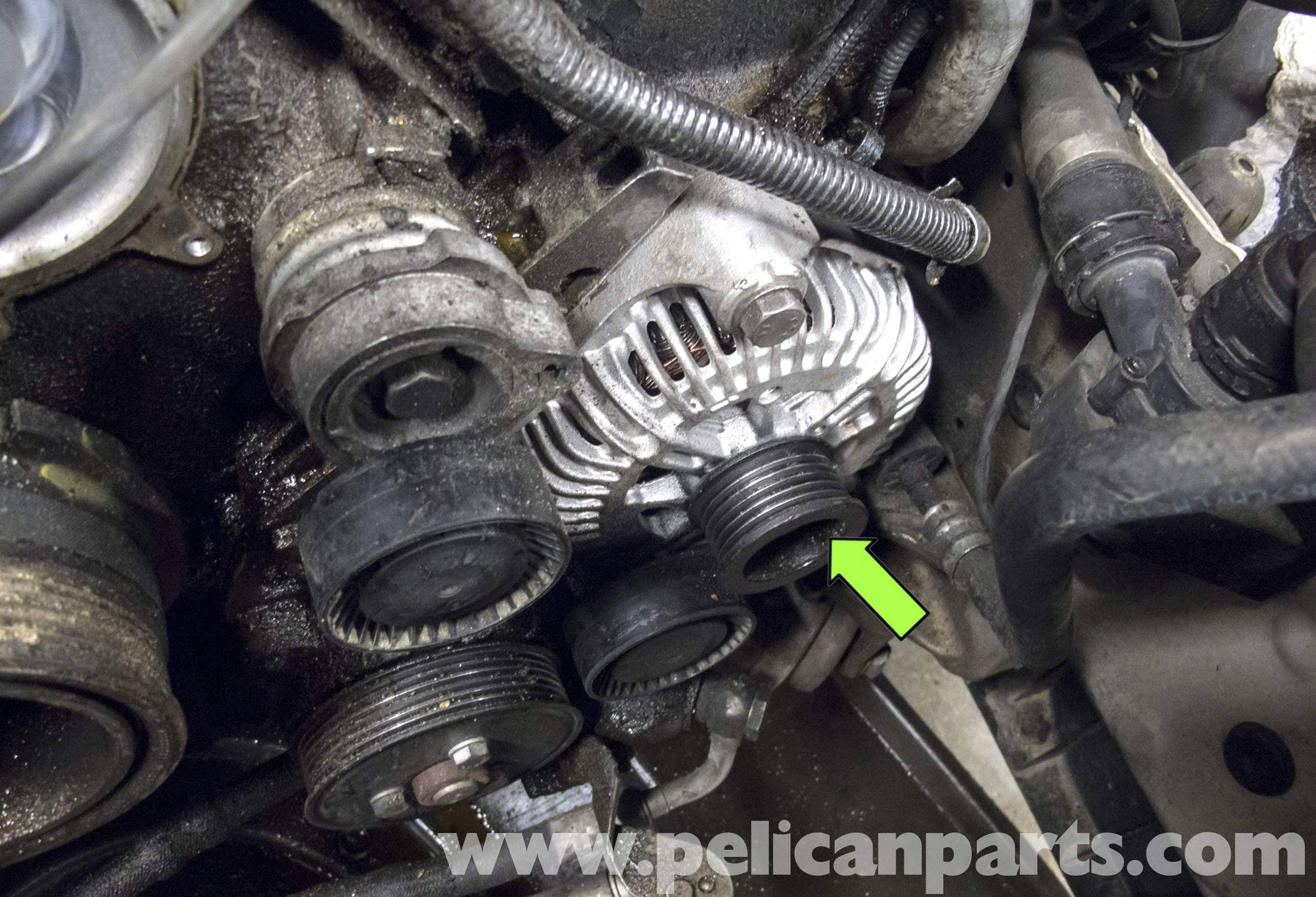 n62 belt diagram bmw e60 5-series n62 8-cylinder alternator replacement ...