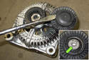Place the alternator on the workbench.