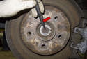 Install the axle in the reverse order of removing.