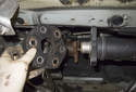 Remove the flex-disc from the driveshaft.