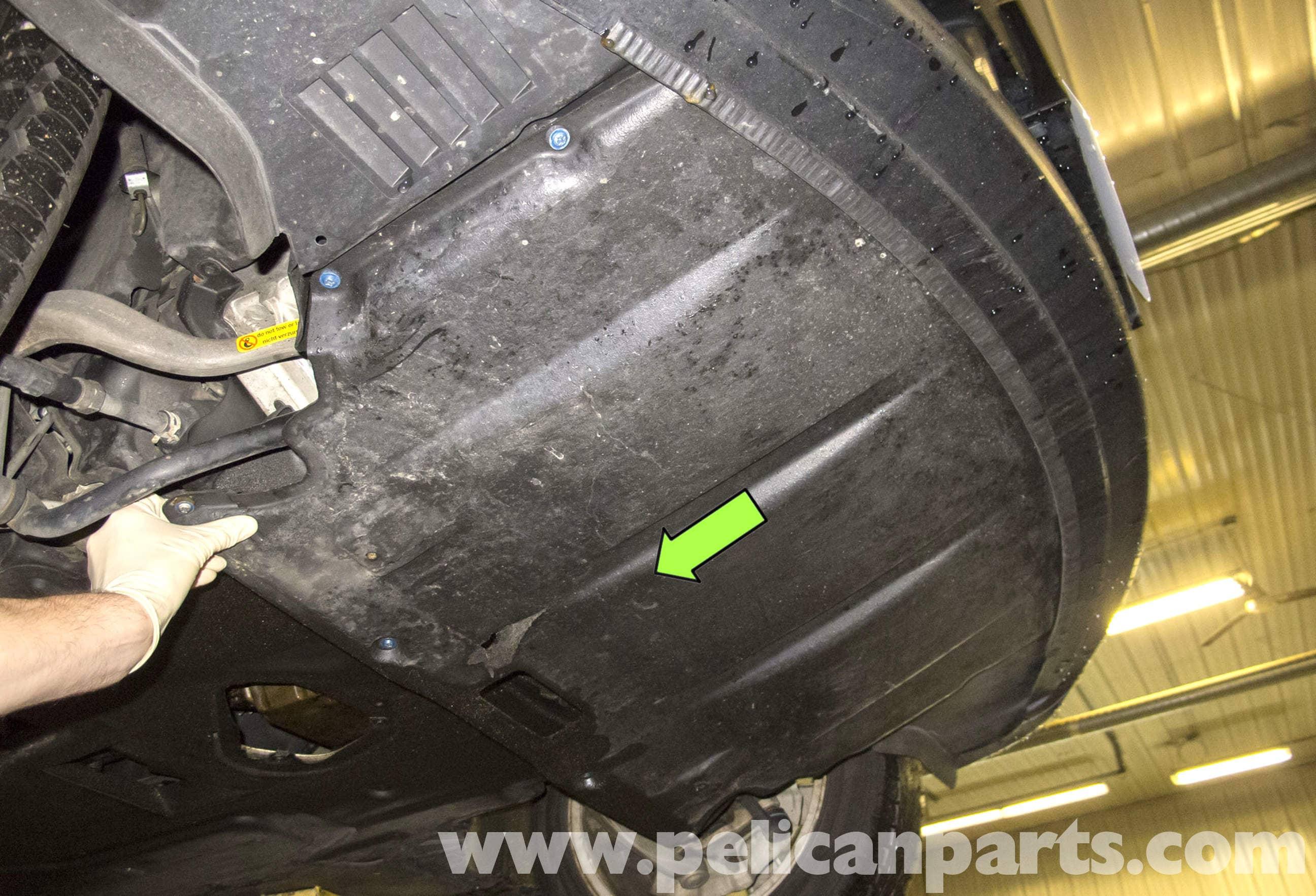 Bmw E60 5 Series Engine Transmission Splash Shield Removal