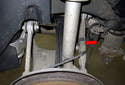 The rear control arm is the rear most upper control arm (red arrow).