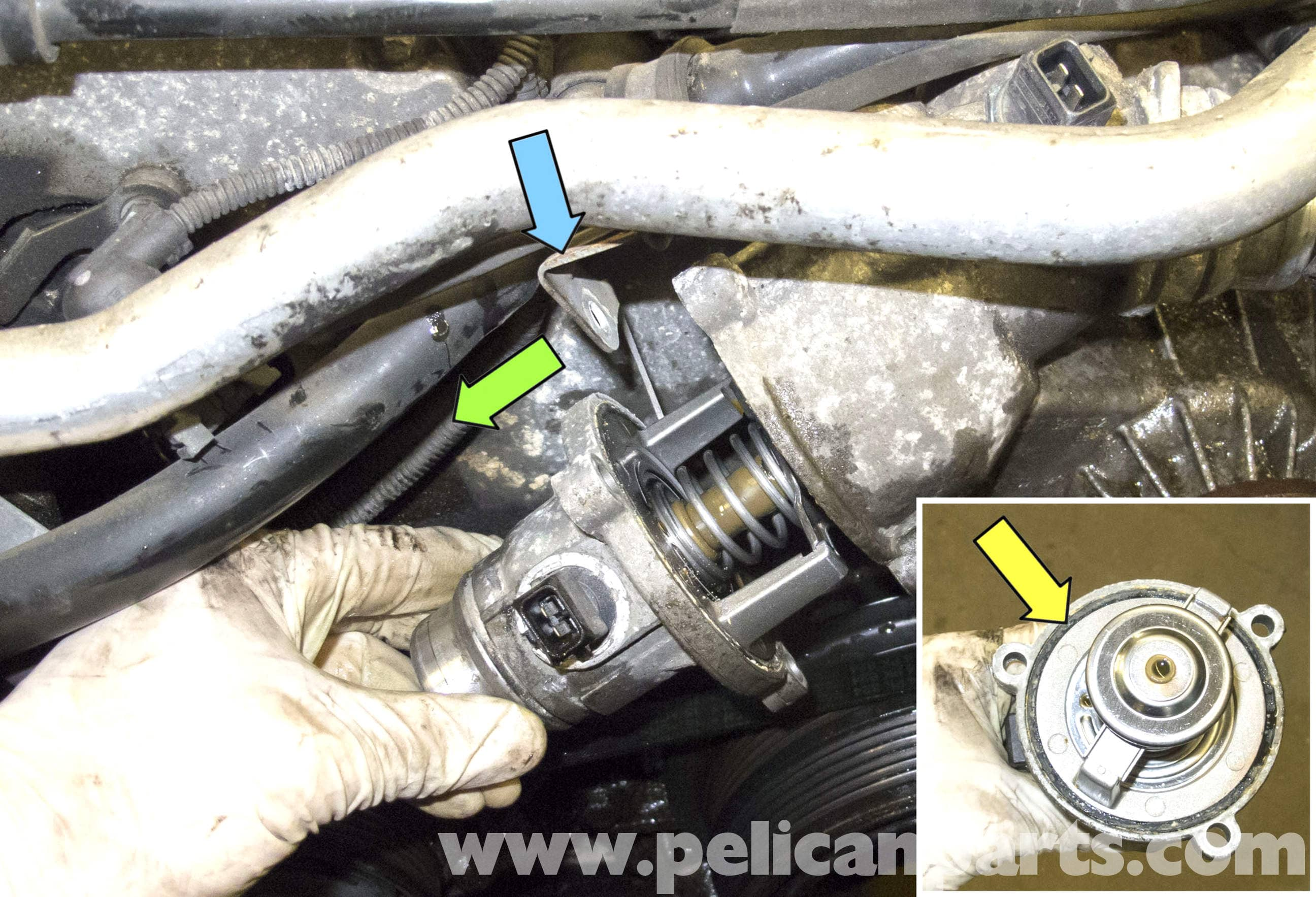 Bmw E60 5 Series Thermostat Replacement N62 8 Cylinder