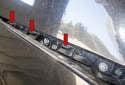 When installing the bumper, slide the bumper slots onto the bumper