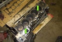 Place the new cylinder head gasket on the block.