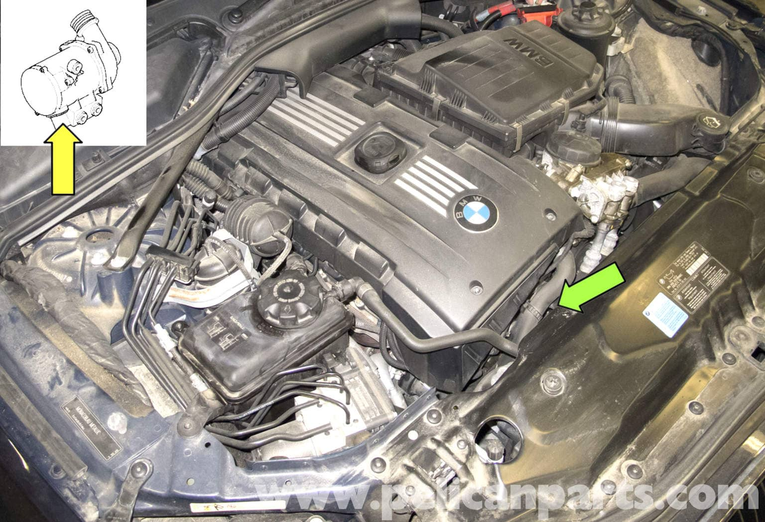 2008 Bmw X3 Fuse Diagram Real Wiring 323i Box E60 5 Series Water Pump Testing Pelican Parts 2007 2000