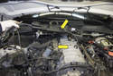 Lift the wiring junction (yellow arrows) up and secure it out of the way for the remainder of the procedure.