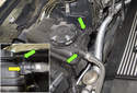 6-cylinder engine: Models with a 6-cylinder engine have a single hose to the top of the expansion tank and a cap.