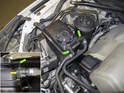8-cylinder engine: Models with an 8-cylinder engine have two hoses at the top of the expansion tank.