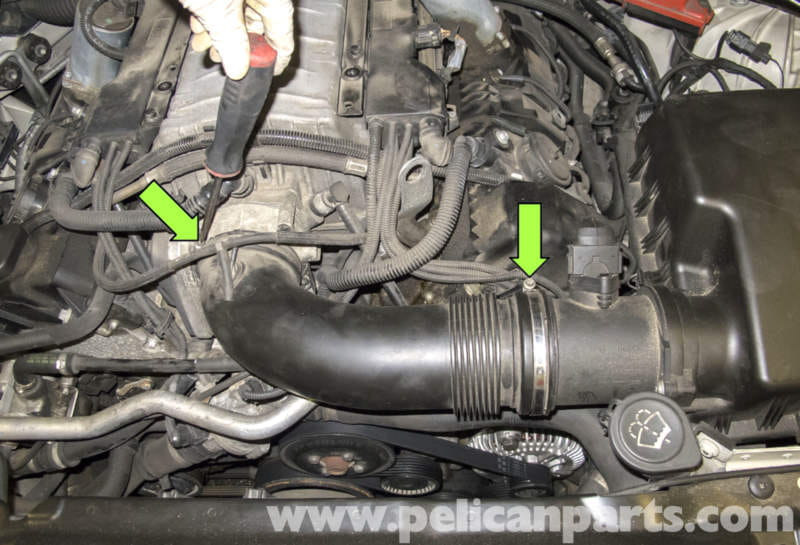 BMW    E60 5Series Radiator Temperature Sensor Replacement  20032010   Pelican Parts Technical