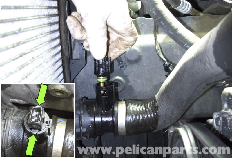 Bmw E60 5 Series Radiator Temperature Sensor Replacement