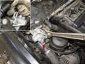 Intake camshaft sensor: Then, using a 32mm wrench, loosen the VANOS solenoid.