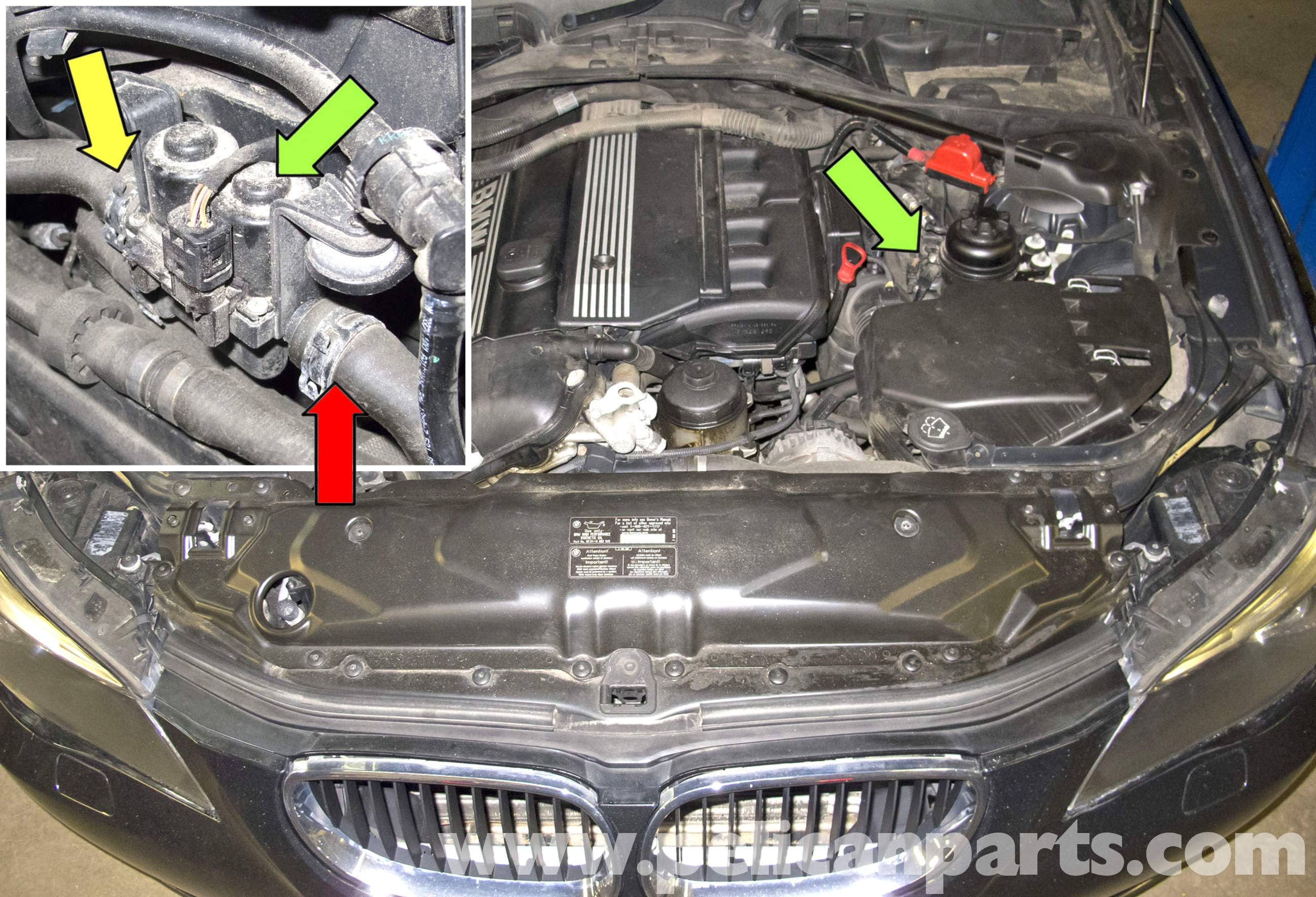 BMW E60 5-Series Heater Valve Testing and Replacement - Pelican