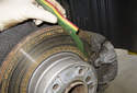 It is also a good idea to measure your brake pad thickness.
