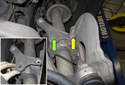 To access the bolts for the wheel bearing, the strut assembly has to be removed.