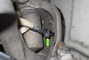 Front sensor: Pull the ABS sensor out of the steering knuckle.