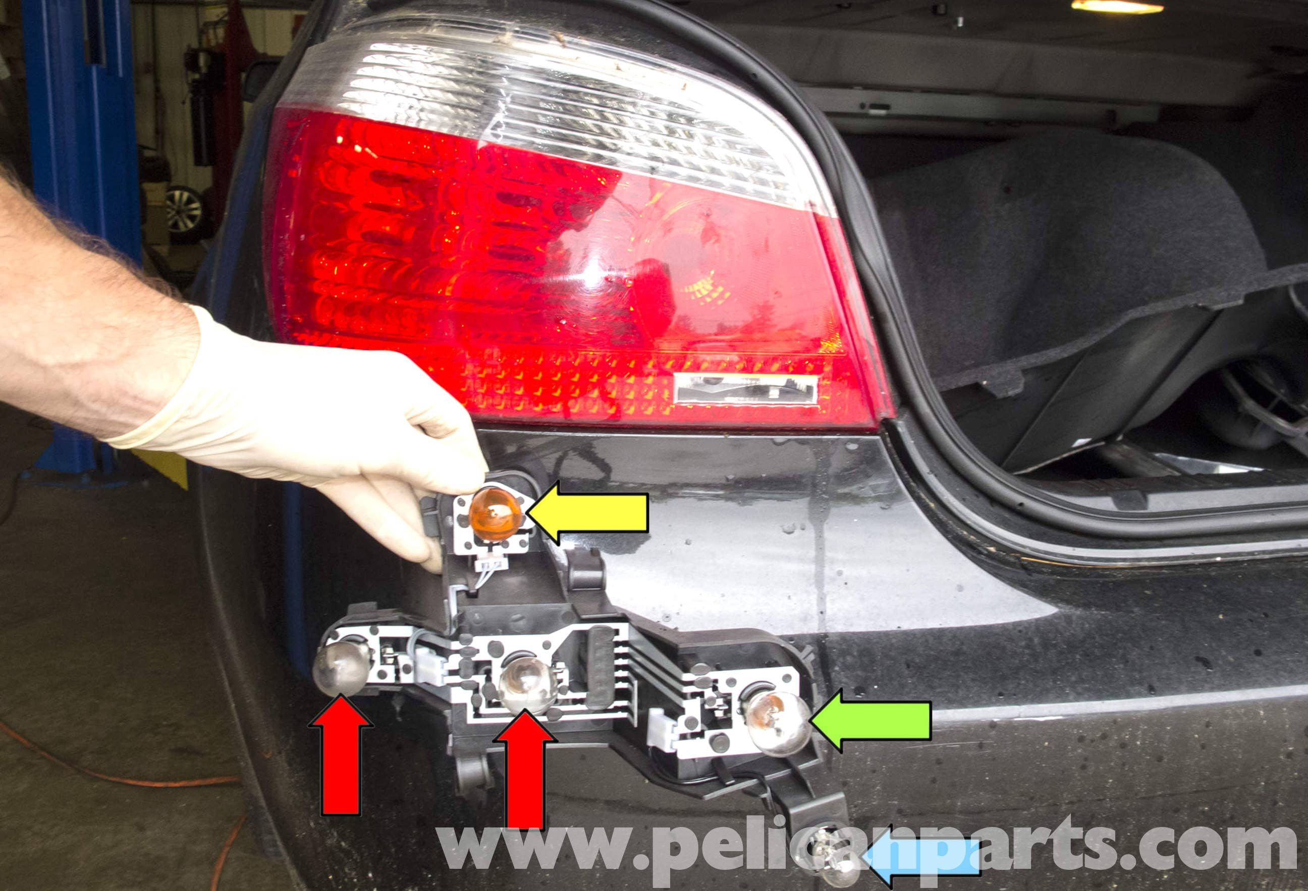 pic01 bmw e60 5 series tail light replacement (2003 2010) pelican e60 tail light wiring diagram at gsmportal.co