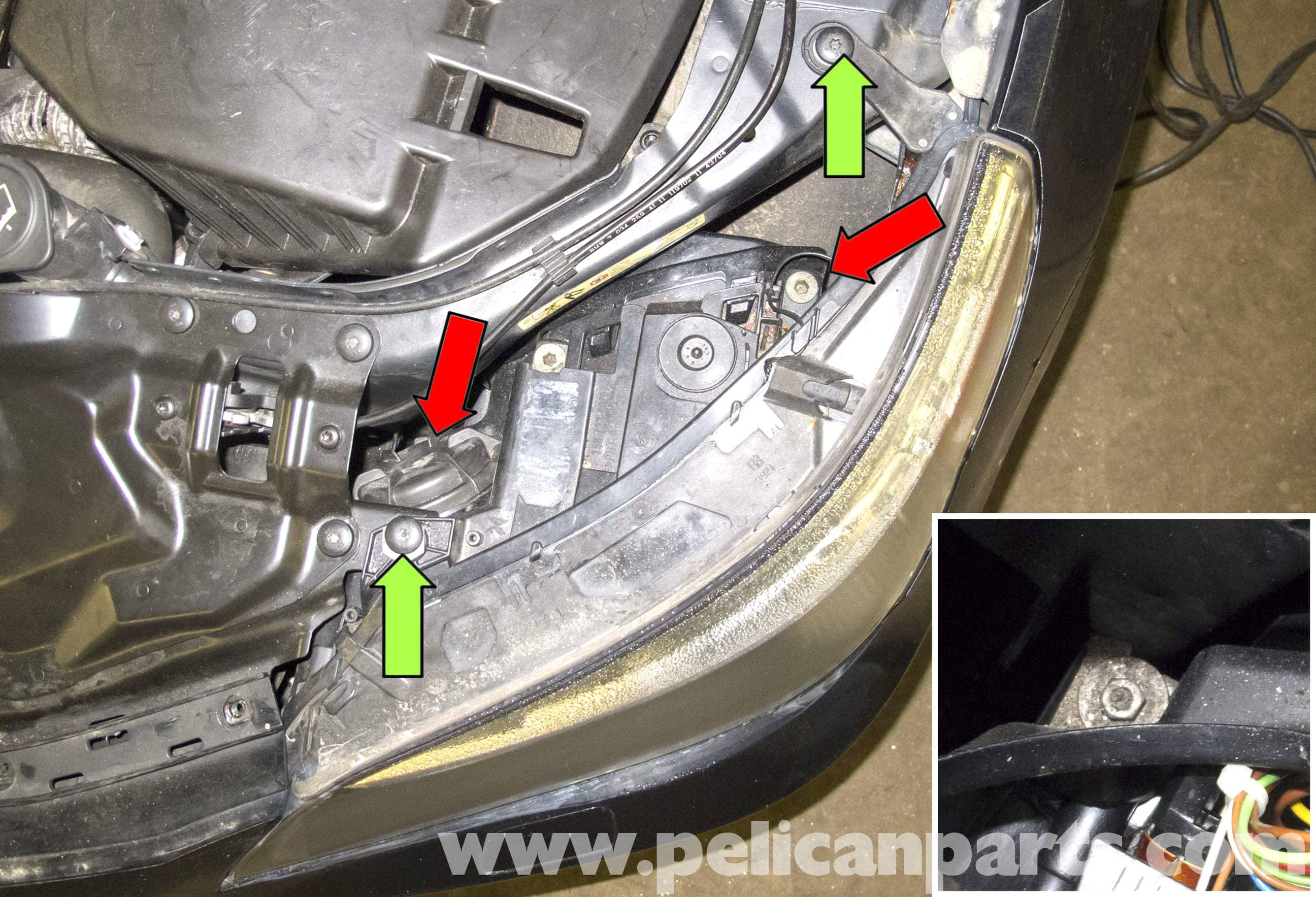 Bmw E60 Headlight Diagram Wiring Schemes Fuse Box Image Details 5 Series Xenon Replacement 2003 2010 Pelican