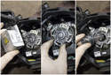 Headlight assembly: Pull the bulb holder off to remove it.