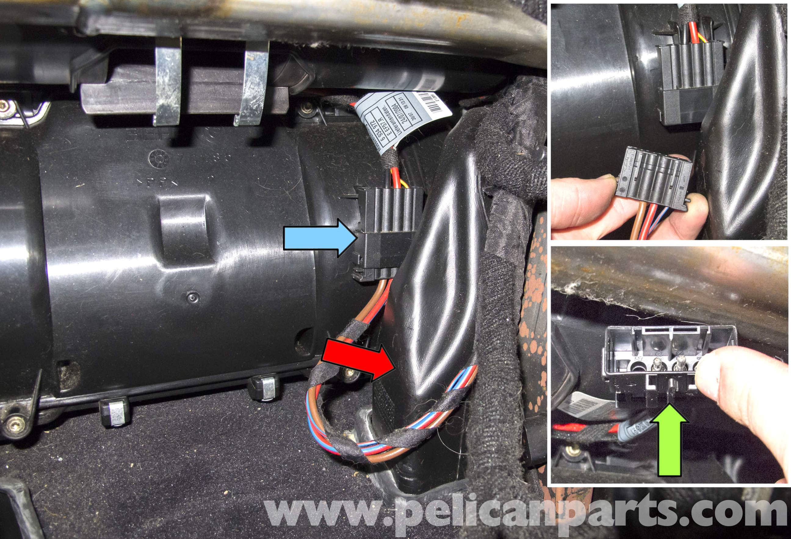 bmw e60 5 series hvac stepper motor replacement 2003 2010 rh pelicanparts com BMW 545I 2004 Inside 2003 BMW 545I