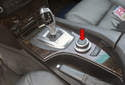 iDrive controller: This photo shows the iDrive knob, which is part of the iDrive controller.