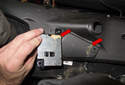 Blue Tooth antenna: Then remove the antenna from the air duct.