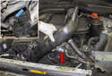 Front intake charge air duct: Next, you will have to remove the duct from the engine.