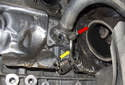 With the rear turbocharger removed, you can now remove the front one.