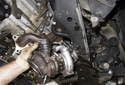 Remove the turbocharger from the engine.