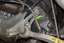 If your vehicle is equipped with Xenon headlights, remove the Xenon headlight height sensor from the control arm.