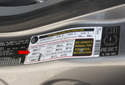 Using the sticker on your driver door jamb, and tire pressure specifications as well as compatible tire size options (red arrow).