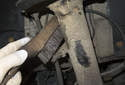 Front sway bar links: use a wire brush and clean the sway bar end link threads.