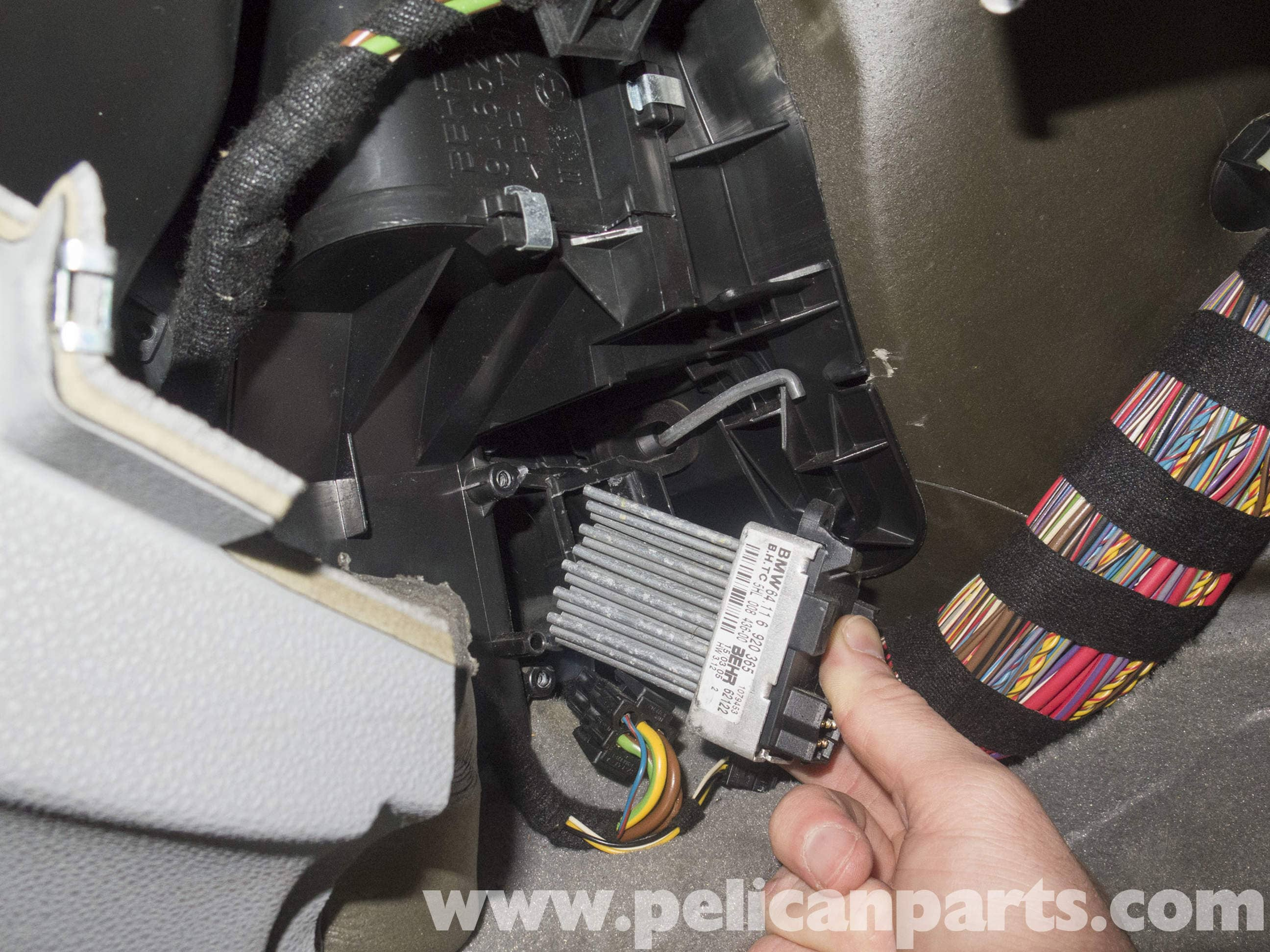 Pelican Parts Technical Article - BMW-X3 - Blower Motor