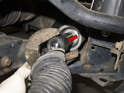 Next, loosen the inner tie rod end using a 32mm (size may vary) wrench or inner tie rod end tool.