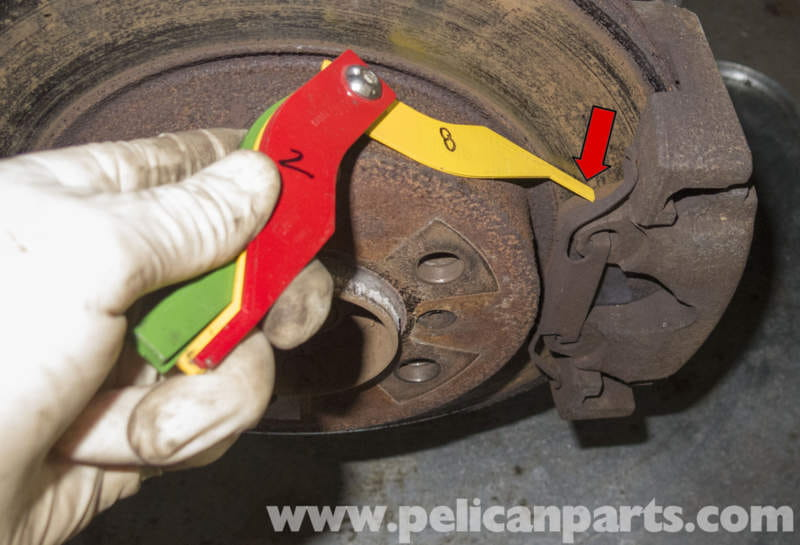 705 Brake Lining Thickness Gauge : Pelican technical article bmw brake rotor